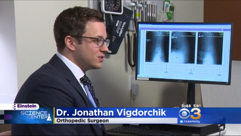 Dr. Vigdorchik's FDA Approved Hip Replacement Surgery Featured on CBS